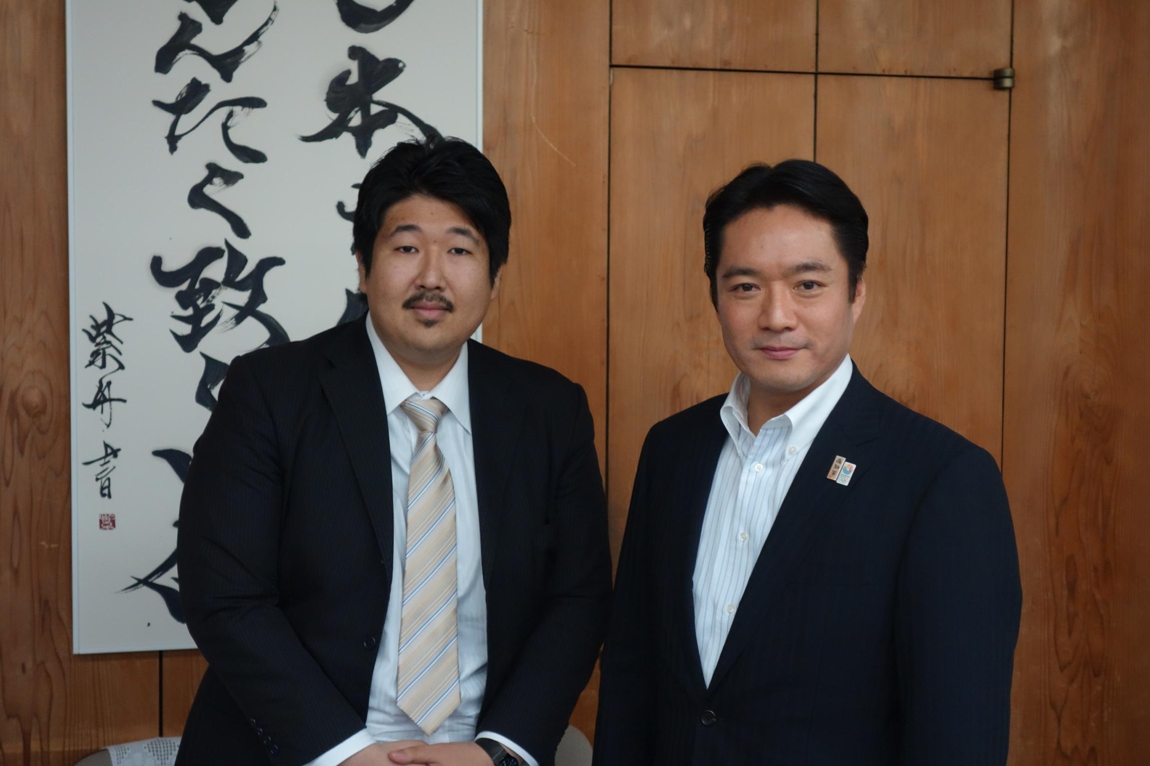 高知県知事と談話: 恒石鎮誌的日々